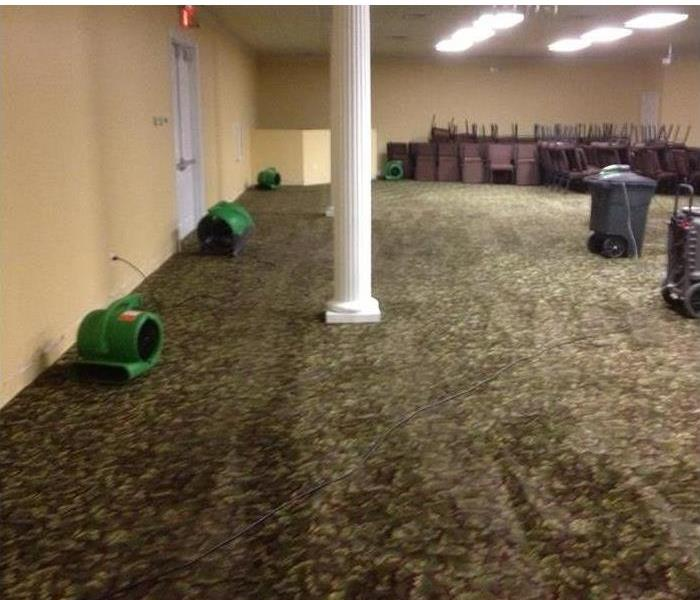 Commercial Water Damage to a Hotel Meeting Room  After