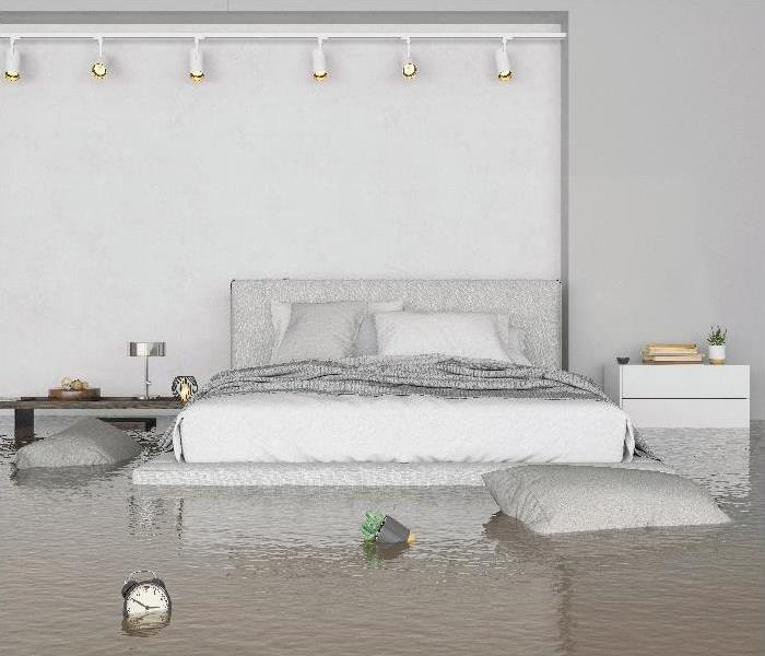 Flooding Bedroom Interior