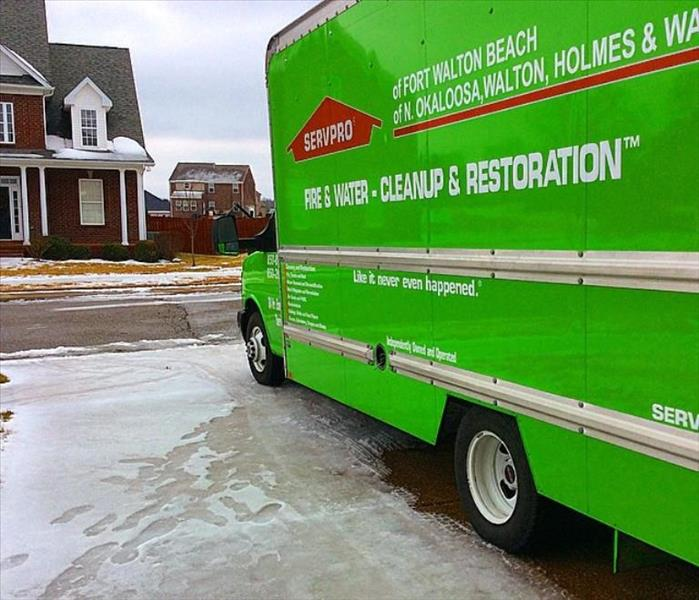 Storm Damage When Storms or Floods hit Fort Walton Beach, SERVPRO is ready!